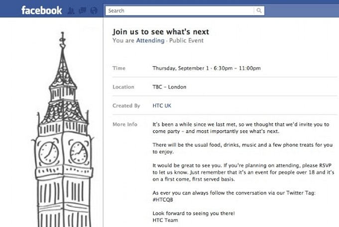 HTC announces September meetup event on Facebook, new phones on the way?