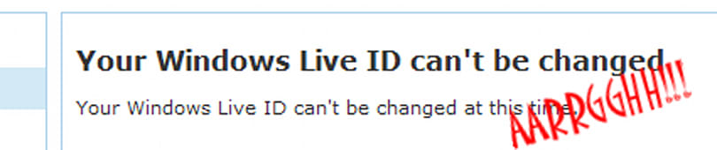 Live ID lameness rears ugly head once more