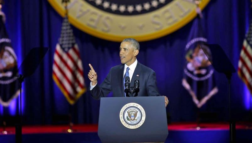 Obama talks social media and climate change in final address