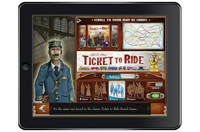 Ticket to Ride lays track on the iPad