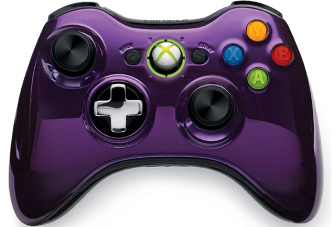 Xbox 360 Chrome Series controllers come in purple, black in March