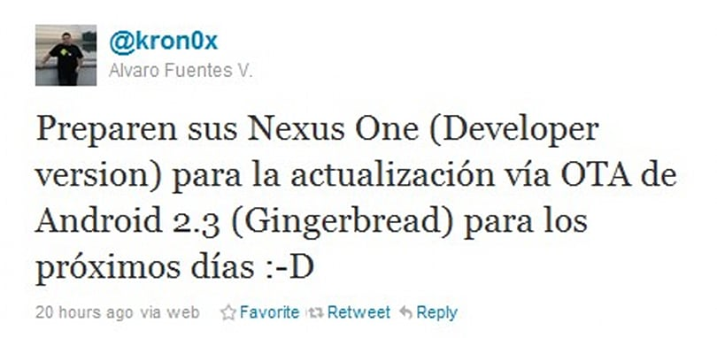 Open Handset Alliance member confirms Android 2.3 is Gingerbread, coming soon to Nexus One