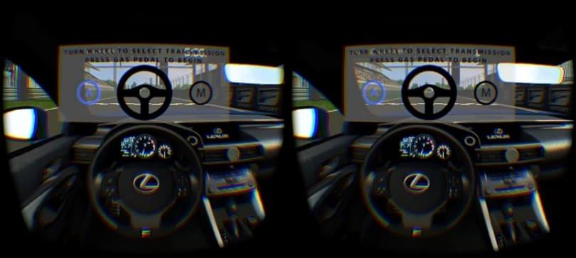 Lexus creates an Oculus Rift-powered virtual test drive