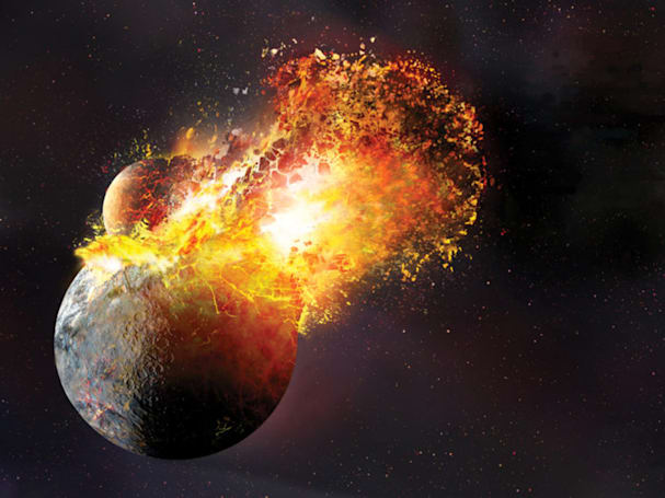 The moon's birth may have temporarily vaporized the Earth