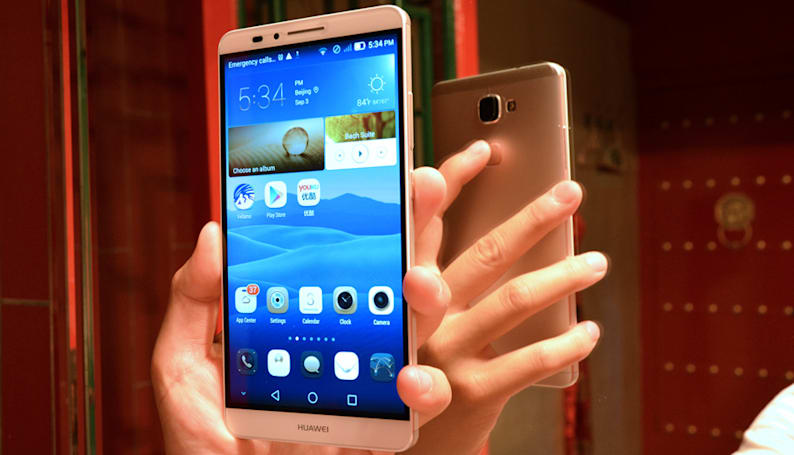 Huawei's new phablet gets an iPhone 5s-like fingerprint reader