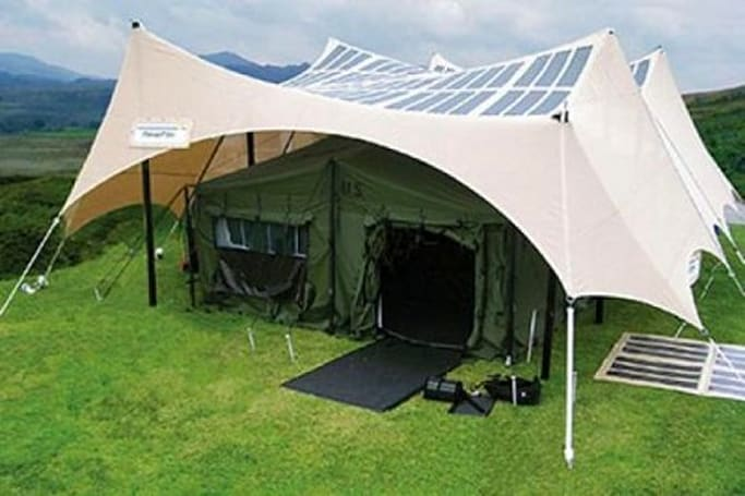 US Army testing solar powered tents for troops, gadget addicted campers