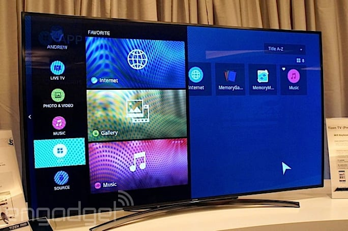 All of Samsung's new smart TVs run Tizen, stream TV to your phone