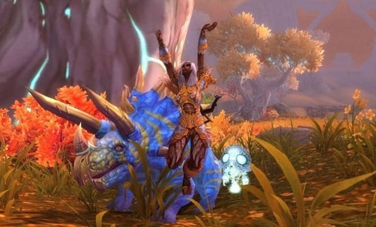 Direhorn hunter pet in patch 5.2 is the triceratops we've been wanting