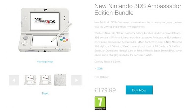 New 3DS 'Ambassador Bundle' revealed for EU, shipping early