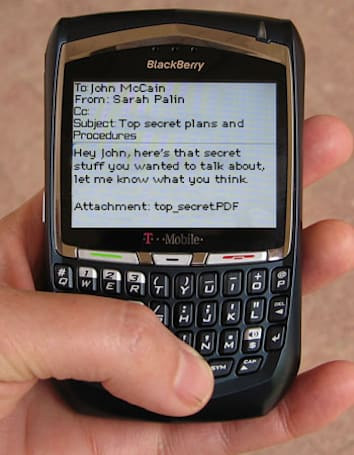 Used BlackBerrys sold for $20 at McCain-Palin blowout, contacts and emails included