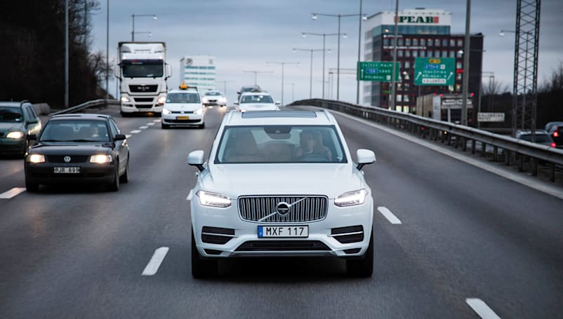 Volvo will conduct China's largest test of self-driving cars