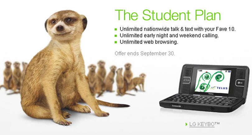 Telus offers up Student Plan for heavy texters / surfers, light talkers