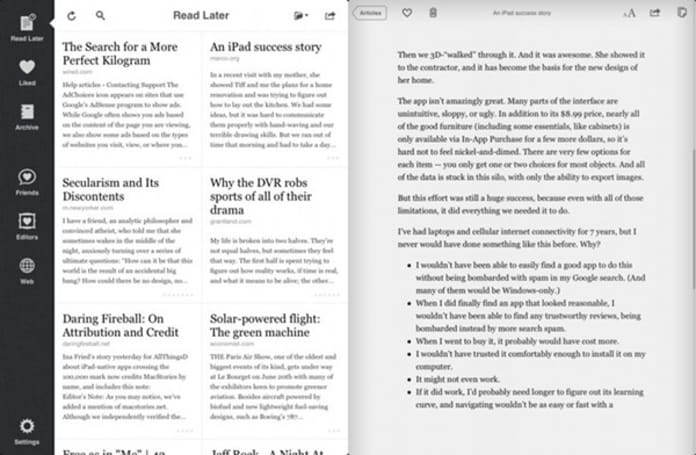 Instapaper gets iPad refresh: more friends, more reading