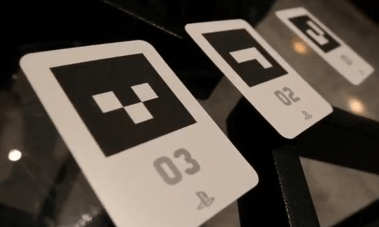 Vita's Table Soccer AR game laid out on video