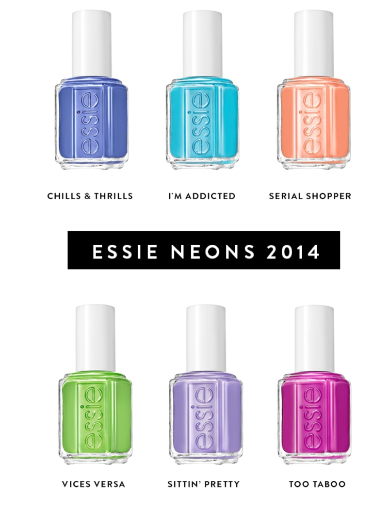 If it isn't neon, it shouldn't be on: Essie's new polishes