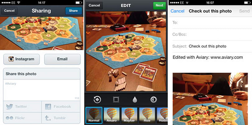 Aviary for iOS update adds Instagram and email sharing options, extra magic
