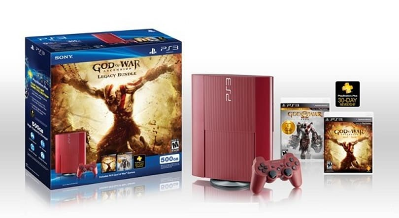 Garnet red PlayStation 3 bundled with God of War: Ascension and 500GB HDD arrives this March for $349