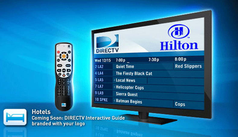 DirecTV DVRs available in over 100 hotels, never miss the restaurant opening times again