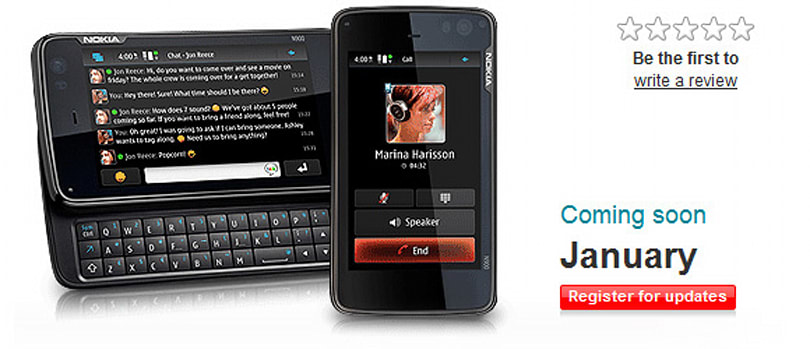 Nokia N900 coming to Vodafone UK in January 2010
