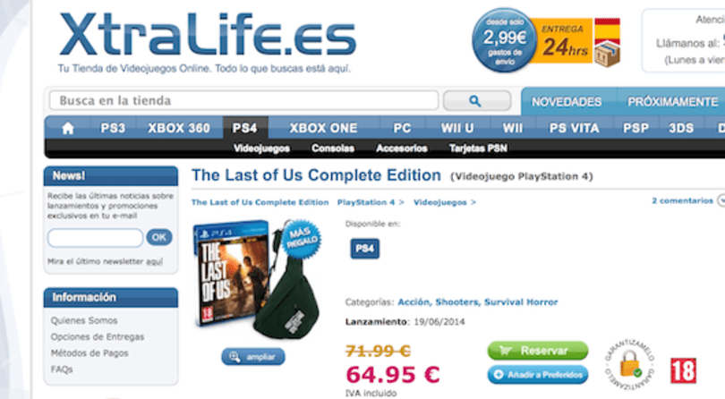 Listing for 'The Last Of Us Complete Edition' pops up on XtraLife