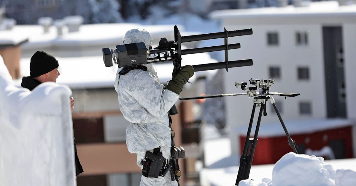 Swiss cops use anti-drone guns at the World Economic Forum