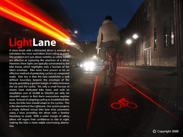 Light Lane concept would protect cyclists, bring Tron to life