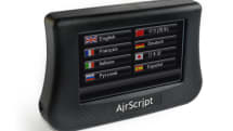 AirScript translator beams live theater subtitles over the air