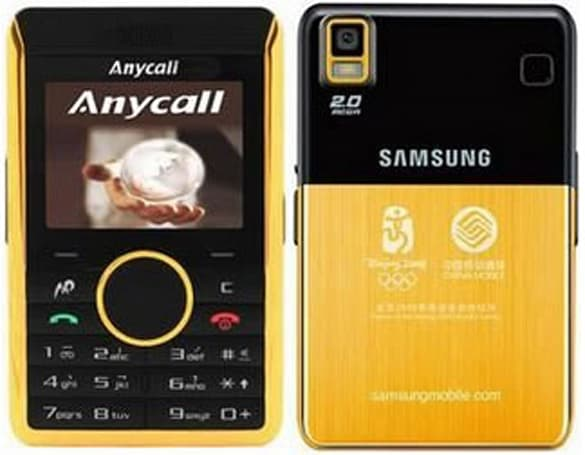 Samsung P318+ sports gold for Olympics