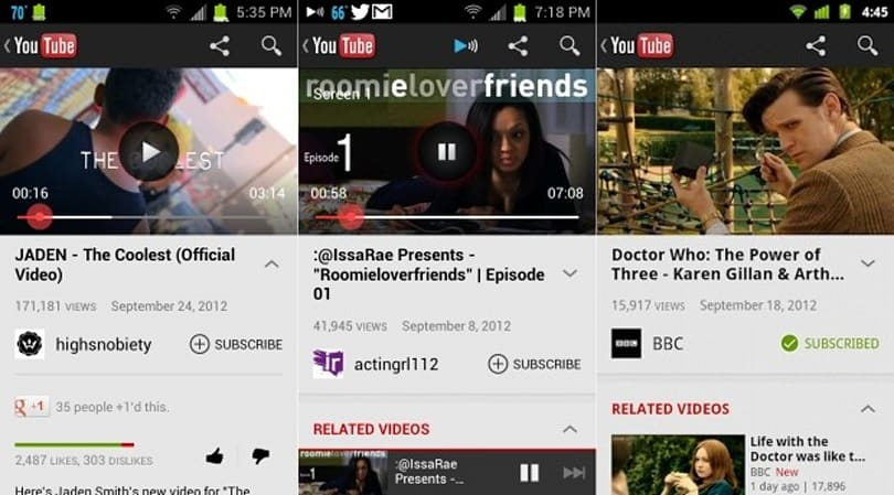 YouTube for Android update brings preloading to Froyo and Gingerbread, YouTube TV queuing