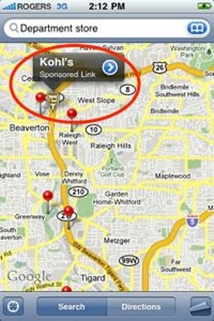 iPhone's Google Maps app now shows ads