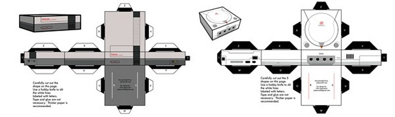 Papercraft NES and Dreamcast cost less, play just as many cutting edge games