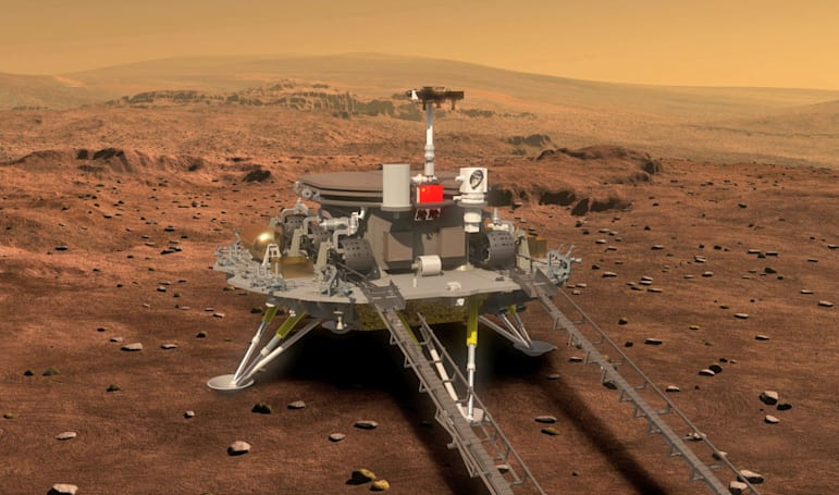 China reveals images and details of its first Mars rover