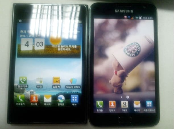 LG Optimus Vu gets pictured alongside Samsung Galaxy Note, hints at possible stylus