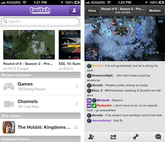Twitch takes game broadcasting mobile