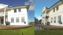 Haus auf Drehteller schießt sich ins Solarknie