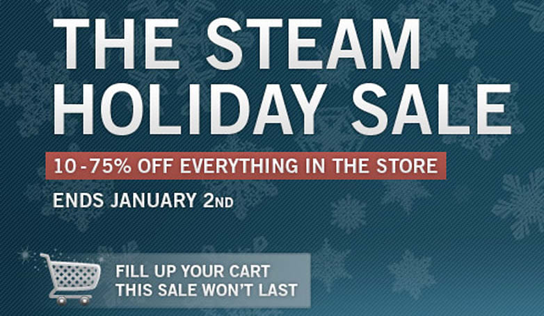 Steam's holiday sale boasts 10-75% off everything