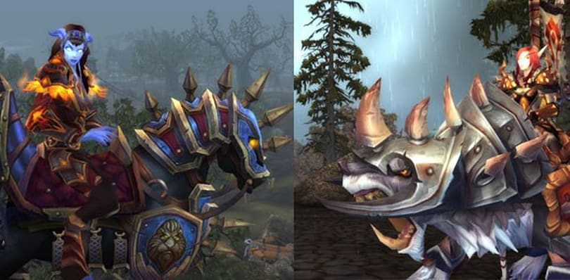 Blizzard previews new rated battlegrounds PVP mounts