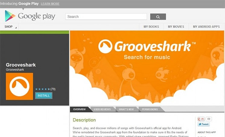 Grooveshark back in Google Play after piracy hullabaloo