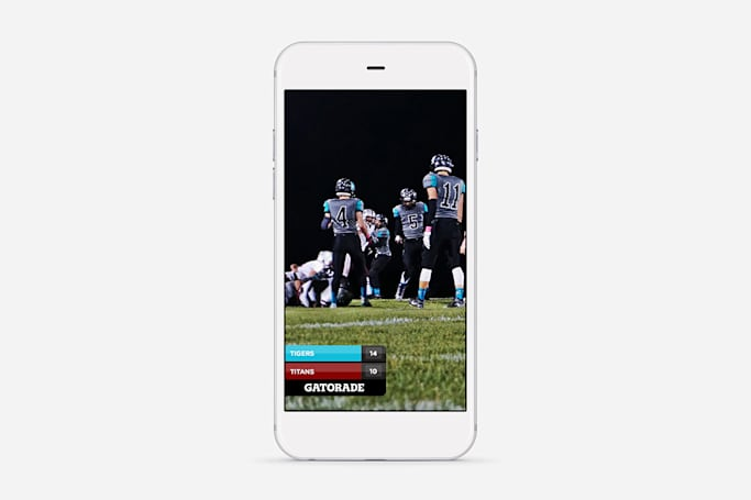 Snapchat brings live score filters to high school football
