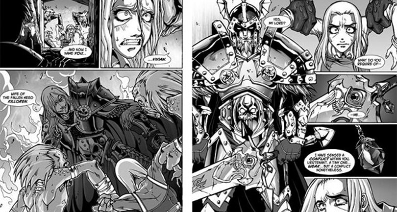 Sneak peek at Tokyopop's Death Knight manga