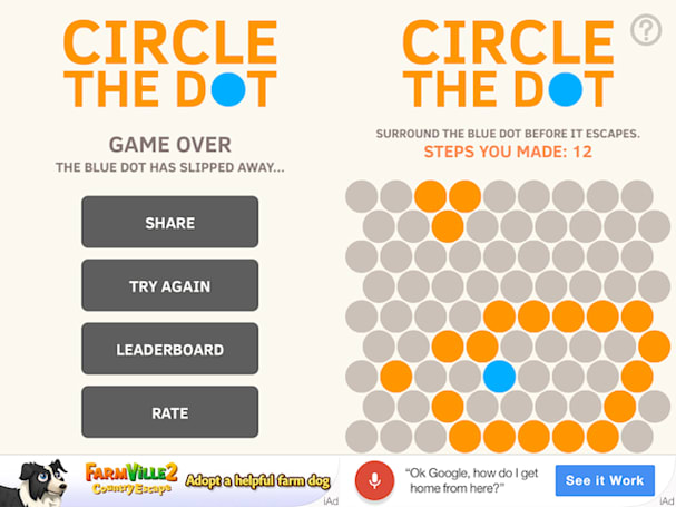 Circle the Dot: A simple puzzle game that will make you scream