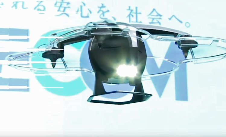 Security drone chases trespassers all on its own