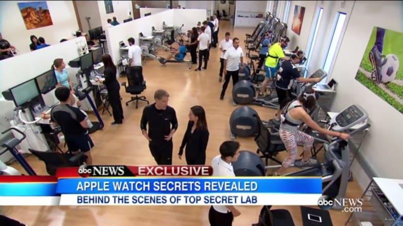 Apple's secret fitness lab revealed by 'Good Morning America'