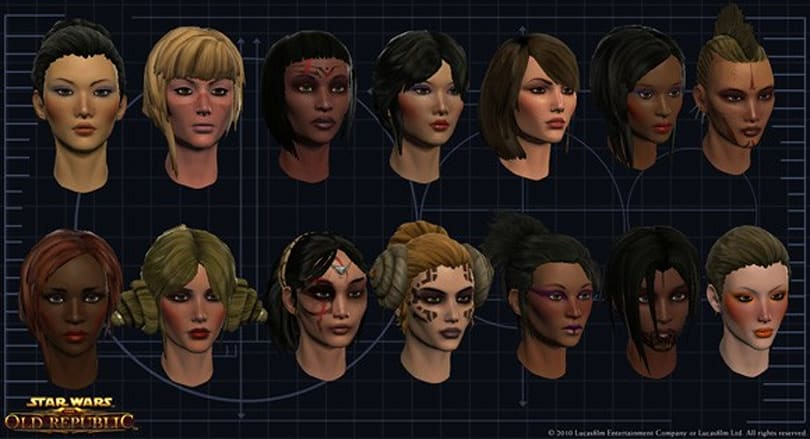 Star Wars: The Old Republic's 'heady' sneak peek at character customization