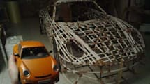 Pedal-powered Porsche made out of Balsa wood doesn't fail to impress