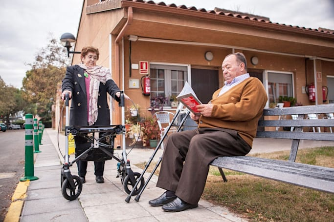 'FriWalk' is a mobility walker and a personal trainer in one