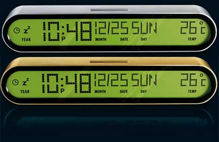 Designer LEXON Jet clocks do dot-matrix with style