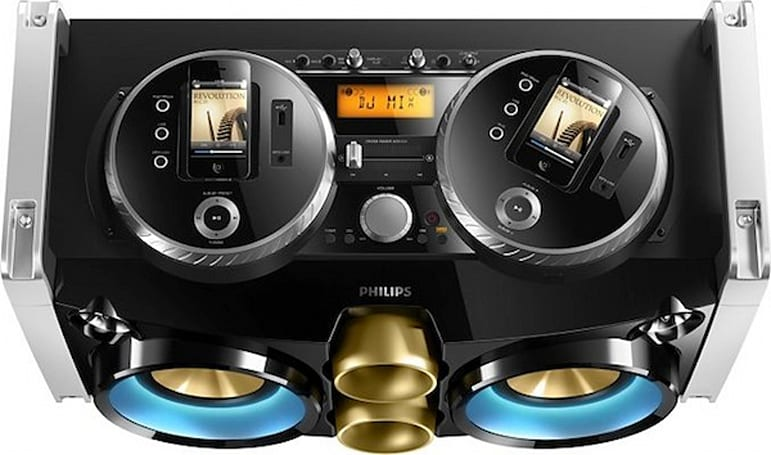 Philips' Mini Hi-Fi System lets you dock iPhones, spins them into turntables