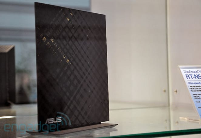 ASUS' ultra-thin RT-N56U router reflects on its CeBIT display