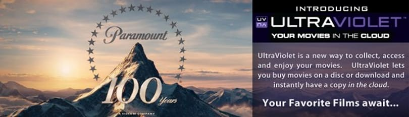 Paramount Movies lets you stream UltraViolet films from the cloud, for a price